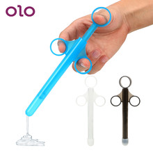 OLO Sex Toys for Couples Syringe Enema Injector Anal Vagina Clean Tools Adult Products Lube Launcher Lubricant Applicator(China)