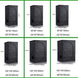 Комнатный Гидропоника 40/50/60/80/100/120 см, шатер для выращивания, коробка для выращивания, светодиодный светильник для выращивания растений, све...