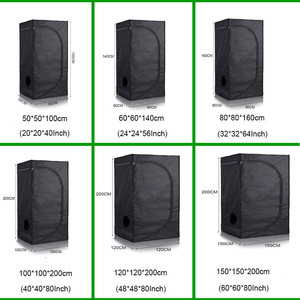 40/50/60/80/100/120cm Indoor Hydroponics Grow Tent,Grow Room Box Led Grow Plant Light , Reflective Mylar Garden Greenhouses