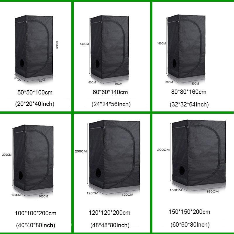 Tenda hidroponia interna de 40/50/60/80/100/120cm, luz led de planta crescente, luz reflexiva para jardim