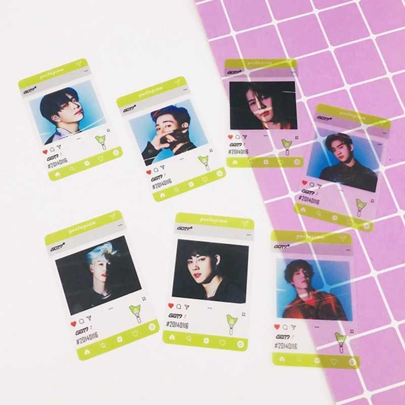 פעמיים Blackpink Got7 PVC שקוף תמונה כרטיס חדש אלבום Photocard אוהדי אוסף מתנה