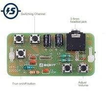 Zestaw do samodzielnego montażu FM Stereo moduł radiowy w/zestaw słuchawkowy regulowany 76-108MHz YFM-2 bezprzewodowy odbiornik DC 3V