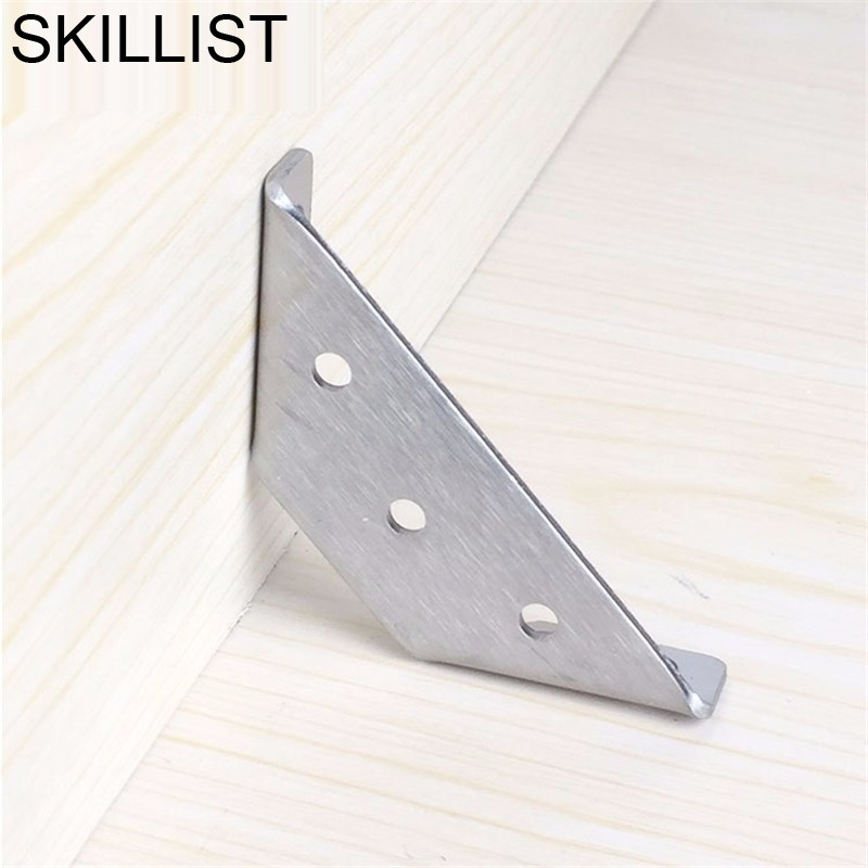 SSS#2 Thicken Triangle Bracket Fixed Stainless Steel Corner Connector Iron Table Right Angle Fittings Furniture Accessories