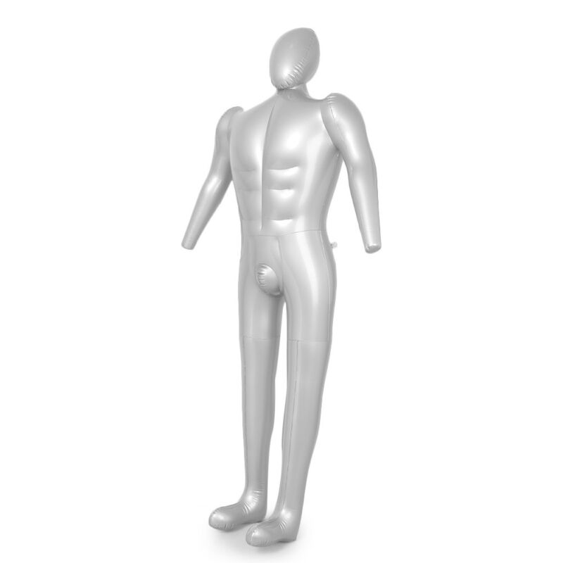 Male Brief Form Inflatable Mannequin Silver