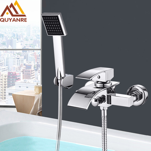 Quyanre Chrome Waterfall Batht