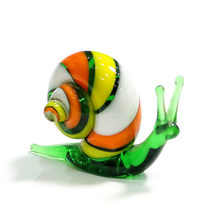 El yapımı Murano cam salyangoz minyatür figürler süsler sevimli hayvan zanaat koleksiyonu ev bahçe dekor yeni yıl hediyeleri çocuklar için