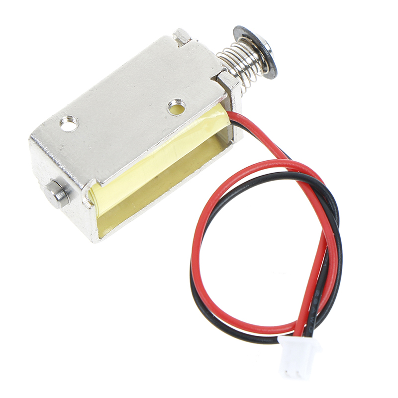 1pc 12V DC Suction Micro Electromagnet Spring Push Pull Type Rod Solenoid Magnet 4mm