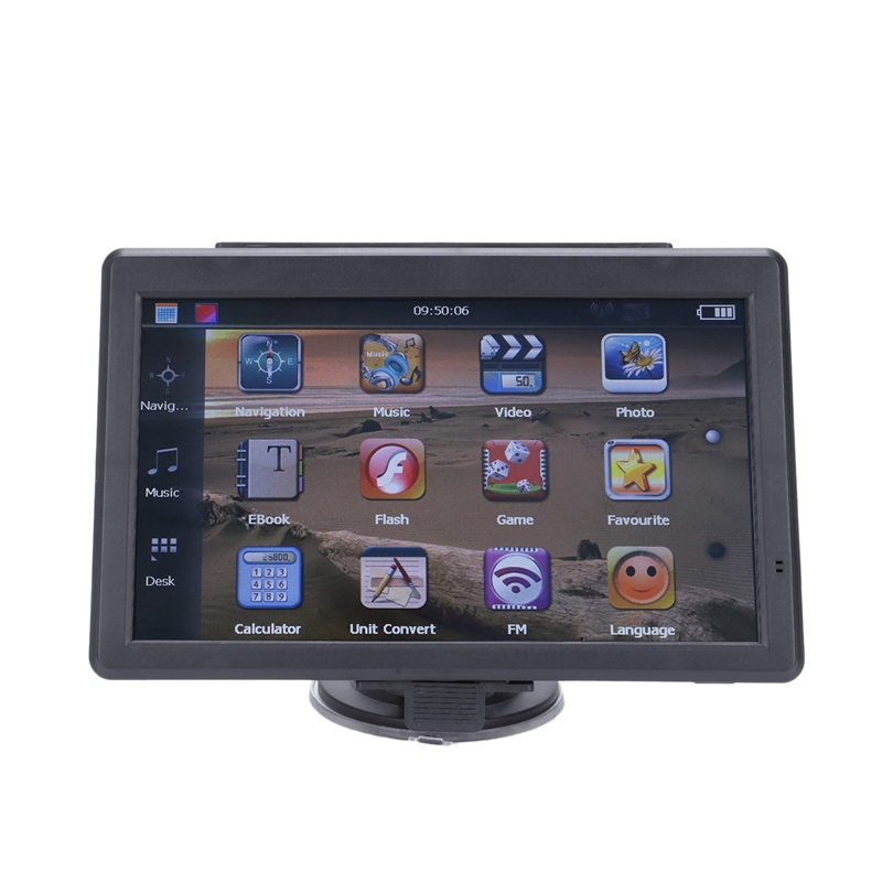 5 Inch Car Navigator GPS Contact Screen Navigation Voice Navigator 128MB 8GB MP3/MP4 FM