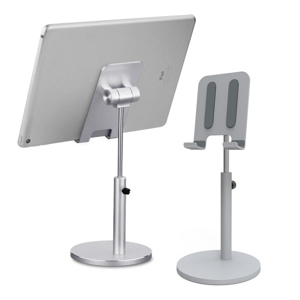 Aluminum Alloy Lifting Desktop Tablet Phone stand Holder Adjustable Tablet desk Mobile Phone Mount For iPad Air Pro 10.5 Stand