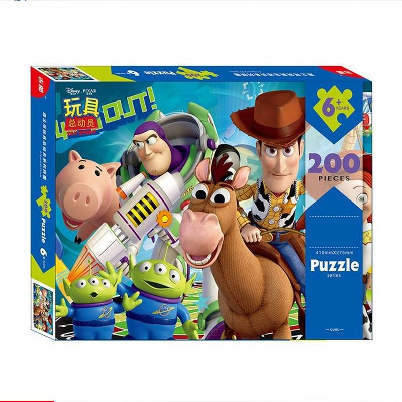 200pcs Disney Toy Story Puzzle Toy Learning Education Interesting Paper Toys For Children Gift