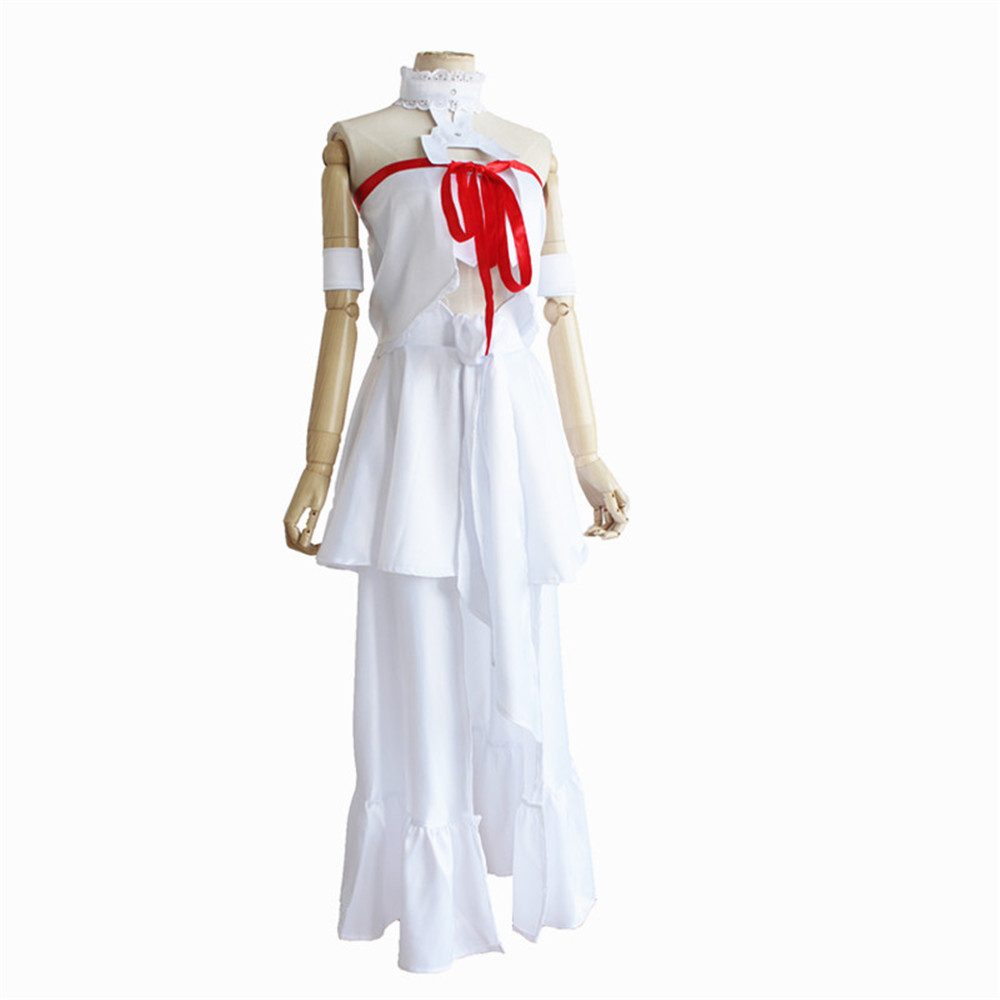 Asuna Cosplay ANIME SAO White Dress Sword Art Online Fairy Queen Costume Women Sword Art Online Cosplay Asuna