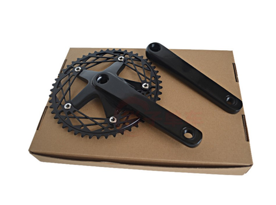 Fixed Gear Crankset 7075 Single Speed Track Bike 144BCD 49T 170mm vintage cranks