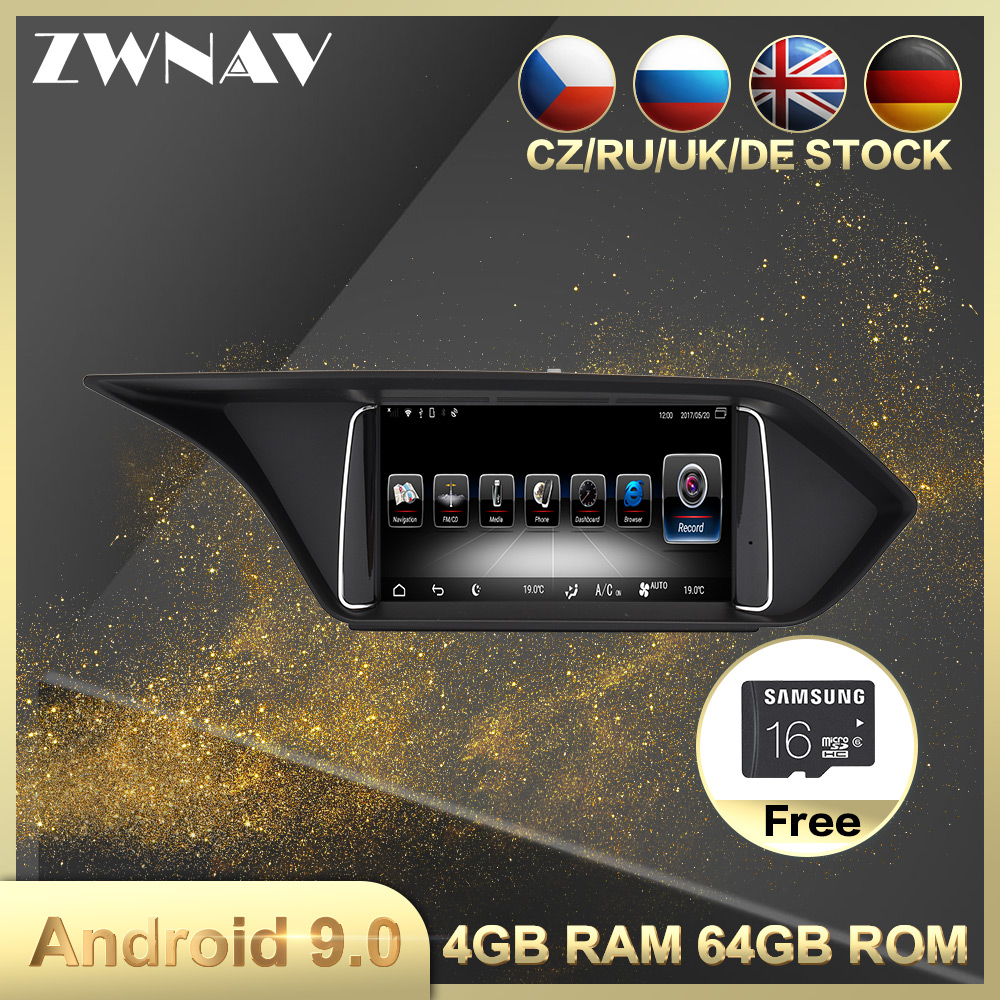 4+64 8 Core Android 9.0 Car Multimedia Player For MERCEDES-BENZ E W212 2009-2016 Car Radio Audio Video Stereo Head Unit Free Map