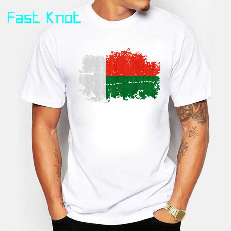 Быстро узел мадагаскарский флаг мужские футболки с коротким рукавом o образным