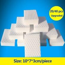 ZhangJi 20/40 pcs High density sponge rub 10*7*3cm Remove dirt oil stain Flexible Washed Magical cleaning wipe kitchen Bathroom