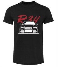 NISSAN SKYLINE R34 GTS-T GTR T-SHIRT SHIRT GIFT CAR BLACK WHITE