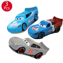 3pcs Disney Pixar Cars 3 Dinoco Grey Lightning McQueen 1 2 3 Series Number 95 Metal Diecasts Toy Vehicles Kids Toys Car Gifts(China)