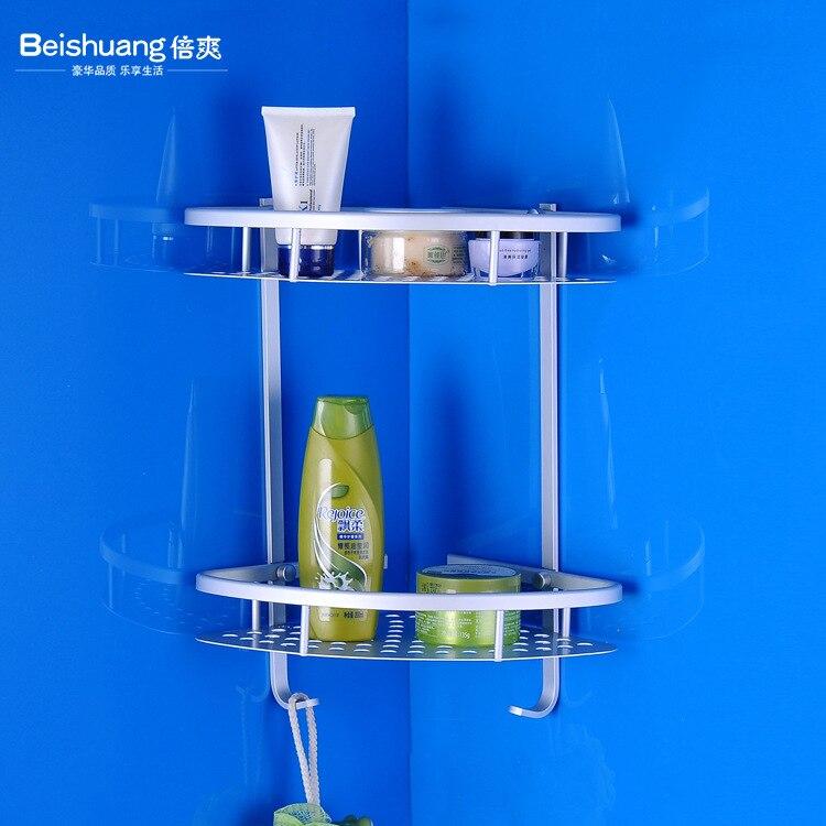 Alumimum Bathroom Hook Unit Hole Punched Angle Mesh Basket Triangular Mesh Basket Toilet Bathroom Rack Aluminium Plate Towel Rac