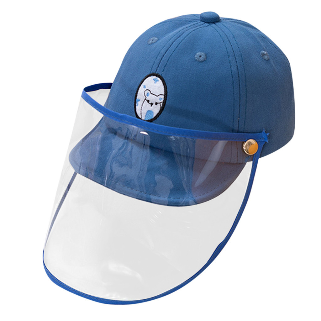 Anti-spitting Protective Hat Virus Protection/bucket Hat Dustproof Cover Kids Boys Girls Peaked Cap Hat For 1-3 Years Old #B