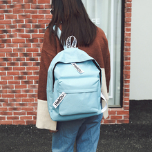 2019 Women Lightweight Casual Backpack Canvas Zipper Print Backpack Travel Outdoor Work Col