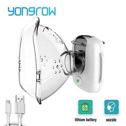 Yongrow nebulizador nebulizador inalador asma atomizador para crianças adulto usb recarregável nebulizador portatil