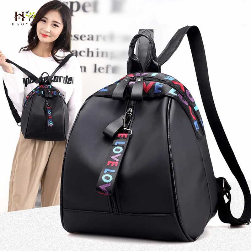 Women's Oxford Cloth Ribbon Backpack Casual Shoulder Bag 2019 New Female Bag Letter Small Backpack Mini Backpack