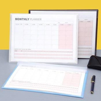 Desktop A4 monthly schedule Agenda 2020 planner organizer Monthly daily Plan Notepad For boys girls school office Supplies Gift monthly schedule design wall sticker