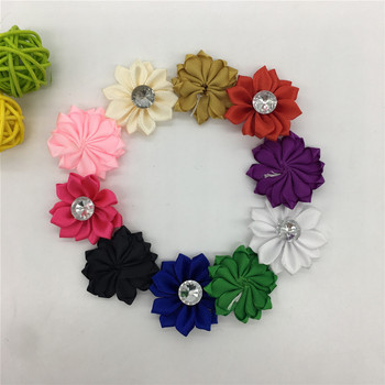 High quality Polyester tape Rhinestone 3D artificial flowers Christmas home decoration DIY Craft Flower Wall Gift Box Accessory image