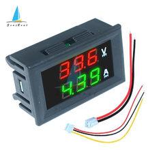 Voltímetro Digital LED para coche, amperímetro de 0,56 pulgadas, 0-100V, 10A, 50A, 100A, medidor de corriente de voltaje, Detector de voltios, Panel de Monitor