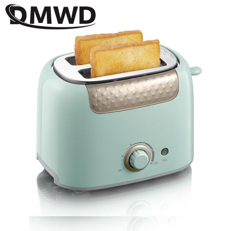 DMWD acier inoxydable grille-pain électrique pain cuisson Machine petit déjeuner Machine Toast Grill four Sandwich chauffage Pot rôtissoire EU US