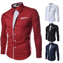 Полоса декоративная длинные 2020 дешевые повседневная с длинным рукавом мужские рукавом персонализированные рубашка четыре цвета в мужская рубашка