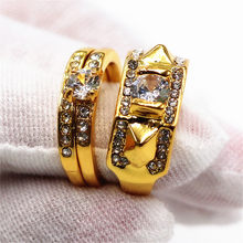 New Vintage Crystal Rings For Women Couple Engagement Ring Men Personalized Jewelry Rings Women Wedding Promise Ring Lady Gifts(China)