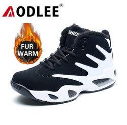 Sapatos masculinos tênis de pelúcia quente botas de neve homens botas de moda hip hop sapatos masculinos tênis casuais tenis masculino adulto aodlee
