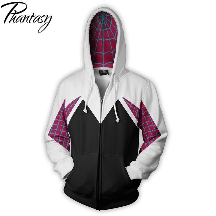 phantasy-women's-anime-hoodies-spider-gewen-zipper-hoodie-3d-print-hooded-outwear-female-font-b-marvel-b-font-clothing-cosplay-clothes