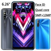 Face ID – téléphone portable Note8 débloqué, écran waterdrop de 6.26 pouces, smartphone, 4 go de RAM, 64 go de ROM, Quad Core, caméra HD de 13mp, MTK, Android