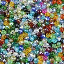 Jhnby 4 мм 100 шт плоские круглые граненые Австрийские кристаллы