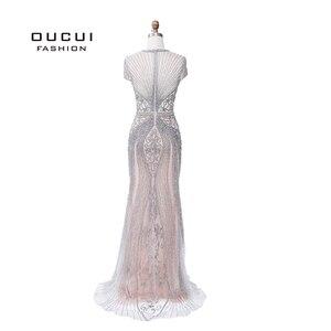 Image 4 - Oucui elegante vestido de noite formal 2020 vestido de festa longo para as mulheres robe de soiree vestidos de festa de noche sukienka wieczorowa