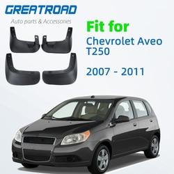Para-lama para carros chevrolet aveo t250 2007 2008 2009 2010, para-lama traseiro e dianteiro guarda de proteção