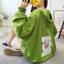 цена Printing Hoodies Women Oversized Hoodie Harajuku Hoody Autumn Big Pocket Women's Sweatshirt Streetwear Casual Sweatshirt Woman