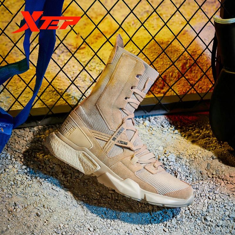 Xtep [Ali Boxing] Мужские Модные Повседневные кроссовки на шнуровке, серия Ali, прогулочная дышащая мужская обувь с высоким носком, мужская обувь 981219520859 - 5