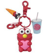 Environmental protection creative simple doll key chain package lovers accessories wholesale