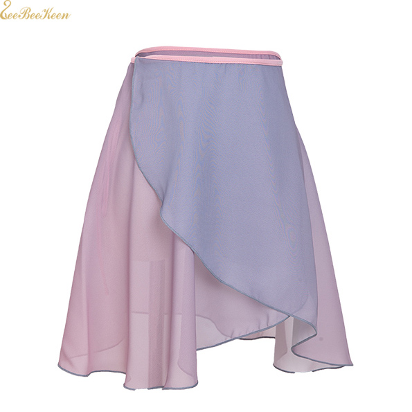 Ballerina Chiffon Dance Yoga Practice Skirt Women Short Gradient Skirt Teachers Gymnastics Ballet Wrap Skirt Ballet Dance Skirt