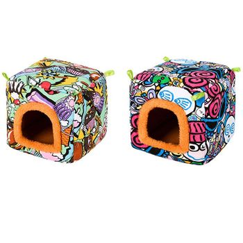 Small Animal Guinea Pig Hamster Hedgehog Bed House Warm Cage Bed Habitat Cave 3