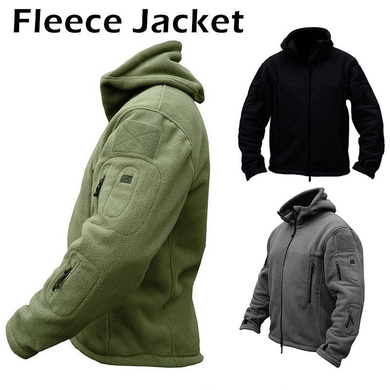 Hot Sale Winter Men Fleece Fishing Clothes Army Military Fishing Jacket Windproof Trekking Hooded Coat Fishing Jackets