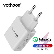 Vothoon 18W Quick Charge 3.0 USB Lader Voor Samsung S10 Xiaomi Huawei QC 3.0 Snel Charing Reizen Muur Mobiele telefoon EU Lader(China)