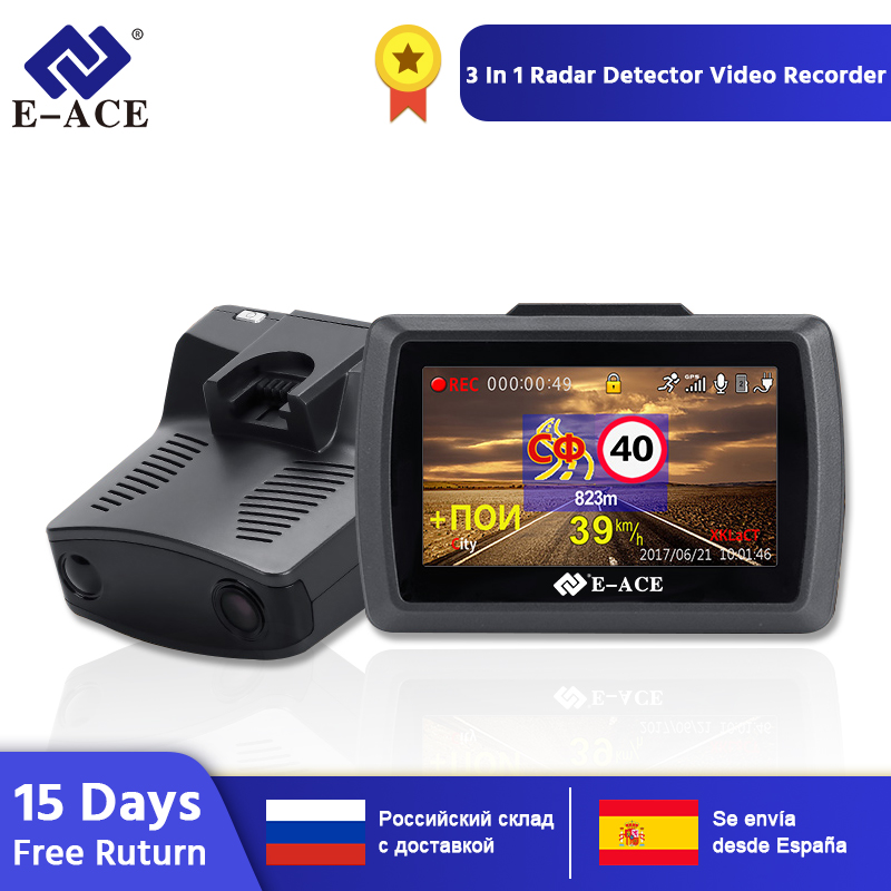 3.0/'/' HD 1080P Car Truck Video Camera Recorder DVR Dash Cam Radar Speed Detector