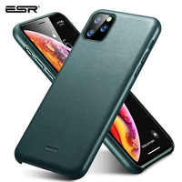 ESR Case for iPhone 11 Pro Max Leather Case Cover Brand Black Green Genuine Leather Protective Cover for iPhone 11 2019 11pro