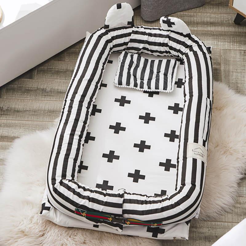 Baby Portable Crib Cot Infant  Travel Crib  Nursing Sleeping Basket Safety Protection pad Bumpers Cushion BXX040