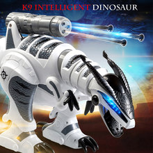 Newest LE NENG TOYS K9 Intelligent Dinosaur Fighting Robot Programmable Touch-sense Music Dance Toy for Kids(China)
