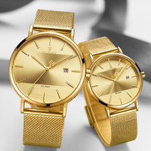 Watches NAVIFORCE Luxury Brand Watches Quartz Simple Men Women Watch Waterproof Men's Ladies Couple Clock Set Relogio Masculino(China)